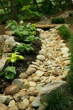 Drainage Rain Garden, Lawn And Garden, Garden Paths, Gravel Garden, Spring Garden, Garden Edging, Potager Garden, Garden Grass, Garden Tub