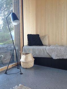 Gräshoppa Floor Lamp by Greta M. Grossman from Gubi Interior Lighting, Interior Styling, House Lighting, Home Living Room, Living Spaces, Bali, Relax, Scandinavian Home, Interiores Design
