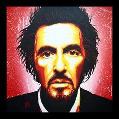 Al Pacino is the man! <3  Acrylic on canvas by LOS www.carlosagrillo.com