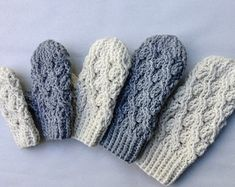 Crochet Pattern Easy Crochet Mittens Pattern by PoshPatterns