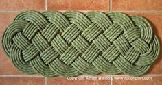 Woven Rug made out of old climbing rope