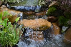 """Can you see it?  The waterfall has this aquarium effect.  The sheet drop holds back water, about 2"""" of it.  So cool"""