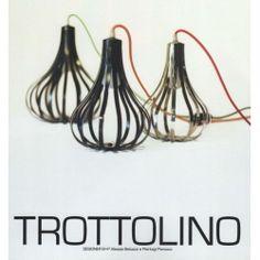 TROTTOLINO . Lamp Design . Iron Abat Jour . 477 Italian Style, Lamp Design, Iron, Light Bulb Drawing, Steel