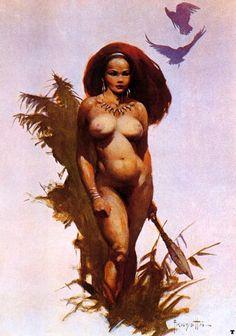 Frank Fazetta. Frank Frazetta (Brooklyn, nueva York, 9 de febrero de 1928) es un pintor e ilustrador estadounidense, especializado en ciencia-ficción y fantasía. Sus diseños han marcado época en series como Conan y Mad Max y han sido copiados por...