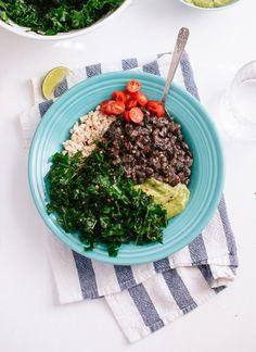 Kale, Black Bean and Avocado Burrito Bowl - Cookie and Kate