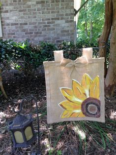 A personal favorite from my Etsy shop https://www.etsy.com/listing/237895709/burlap-sunflower-garden-flag