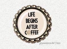-f044a- Kronkorken Magnet AFTER COFFEE , € 2,80 , bottlecap , erhältlich auf http://de.dawanda.com/shop/Mondcatze