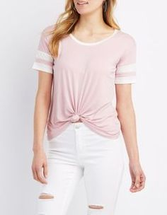 Charlotte Russe Ringer Football Tee Found on my new favorite app Dote Shopping #DoteApp #Shopping