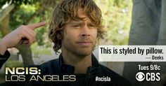 """This is styled by pillow."" Marty Deeks, NCIS: LA quotes"