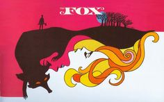 """Leo and Diane Dillon ~ poster artwork for """"The Fox"""""""