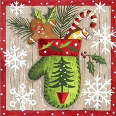 Merry Mittens Stocking -- by Jennifer Brinley Christmas Clipart, Noel Christmas, Christmas Paper, Christmas Printables, Christmas Pictures, Christmas Projects, Winter Christmas, Christmas Themes, Holiday Crafts