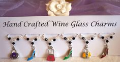 Shoes and Handbags - Wine Glass Charms - Birthday Gifts - New Home Gifts £9.99 Great Birthday Gifts, Great Gifts, Wine Glass Charms, Stocking Fillers, Swarovski Pearls, New Home Gifts, Girls Best Friend, Hostess Gifts, Mother Day Gifts