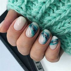 Nail art Christmas - the festive spirit on the nails. Over 70 creative ideas and tutorials - My Nails Classy Nails, Stylish Nails, Us Nails, Hair And Nails, Uñas Fashion, Nagellack Trends, Short Nails Art, Long Nails, Short Nail Designs