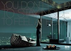 The Print Ad titled B&B Italia: Canasta was done by Saatchi & Saatchi Milan advertising agency for B&b in Italy. Patricia Urquiola, Hotel Ads, New York Penthouse, Property Ad, Saatchi & Saatchi, Ad Of The World, Advertising Archives, Advertising Campaign, Creative Advertising