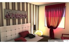 bedroom 3D visualization 3d Visualization, My Works, Curtains, Bedroom, Home Decor, Insulated Curtains, Room, Homemade Home Decor, Blinds