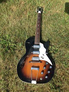 Vintage 60's TruTone Kay Speed Demon hollowbody guitar
