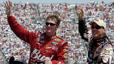 Dale Earnhardt Jr. through the years:   Tuesday, July 19, 2016  -   2004: Junior and Kevin Harvick participate in pre-race ceremonies at Martinsville Speedway. Harvick was the one to fill the seat of the No. 3 after Earnhardt Sr.'s death, although the number changed to No. 29.  -   Photo Credit: Al Messerschmidt