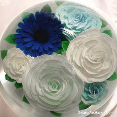 A blue Gelatin Art cake