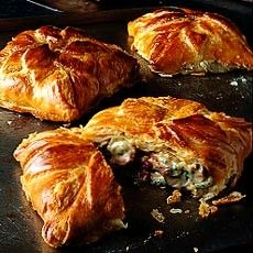 Turkey Feuilletes - assemble, open freeze and wrap. Bake from frozen for an extra 10 mins. Empanadas, Quiche, Good Food, Yummy Food, Yummy Yummy, Delia Smith, Creamy Sauce, Pastry Recipes, Galette