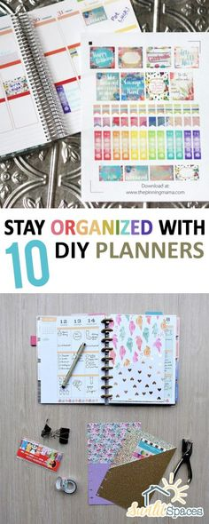 Stay Organized With 10 DIY Planners  DIY Planners, DIY Planner Organization, DIY Planners, Printbales, Printable Projects, DIY Printables, Popular Pin