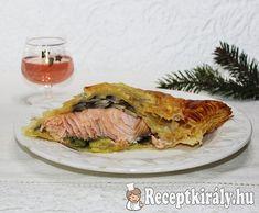 Lazac leveles tésztában recept képpel. Elkészítés és hozzávalók leírása, 2 főre, Karácsony Pork, Meat, Kale Stir Fry, Pork Chops