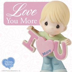 Precious Moments, Love You More Bisque Porcelain Figurine, Boy, 153002 Love Cartoon Couple, Cute Love Cartoons, Hold My Heart, Hold Me, Little Tykes, Precious Moments Figurines, Sweetest Day, Marriage Proposals, Ways Of Seeing