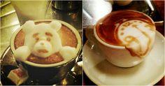 3D Latte Art Bär und Zeit