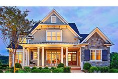 Home Plan HOMEPW10826 - 3878 Square Foot, 4 Bedroom 4 Bathroom Craftsman Home with 3 Garage Bays | Homeplans.com