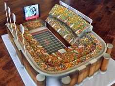 Edible stadium full of candy. #SuperBowl