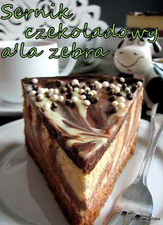 Sernik czekoladowy a'la zebra