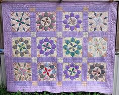 ANTIQUE ROLLING STAR QUILT COTTON FEED SACK PATCHWORK VINTAGE QUILTS HANDMADE #quilts. #ebay