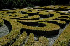 boxwood spirals! French Garden  Auvers Castel