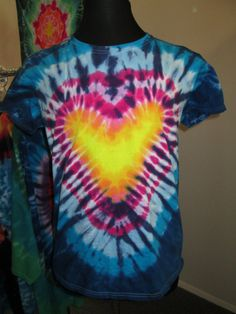 Ladies Xtra Large Tie Dye Heart by AlbanyTieDye on Etsy, $20.00