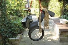 An amazing creative Horse Swing for children to enjoy in the sun.