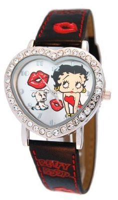 Betty Boop Women's Heart Shape Leather Strap Watch #BB-W540A Betty Boop. $18.99. Mineral Crystal. Stainless Steel Back Cover. Precise Quartz Movement. Betty Boop Logo. Save 27% Off!