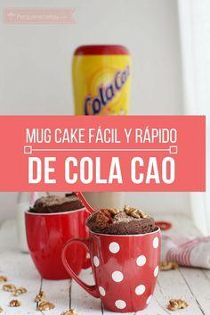 Un Mug Cake de Cola Cao y Nueces, ¡que se hace en 5 MINUTOS!