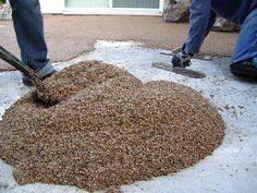 Laying a Pebble Patio (Epoxy-Pebble Mix)  how-tos   DIY