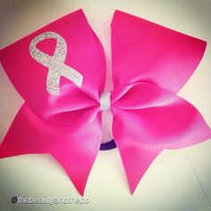 """Cheer bow of the day. by @thebeautyandthebow """"Breast cancer bows """"  Tag #cheerbowoftheday to be featured. #cheerbow #cheerbows #beautiful #cheer #cheerleading #cheerleader #cheerleaders #allstarcheer #glitter #allstarcheerleading #cheerislife #bows #hairbow #hairbows #bling #hairaccessories #bigbows #bigbow #pink #fabricbows #hairclips #sparkle #breastcancerawareness #breastcancer #grosgrainribbon #dance#ribbon #awareness#instacheer"""
