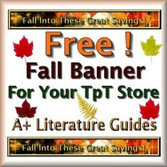 Free Fall Banner for your TpT store! Just download and upload!++++++++++++++++++++++++++++++++++++++++++++++++Press the green star on my store page to follow me and receive free seasonal banners throughout the year:A+ GraphicsHappy Fall!