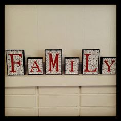 FAMILY blocks ( Would love to make these for Toodie's Room in pink and green!)