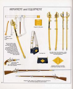 French; Imperial Guard, Dragoon(The Empress' Dragoons) Regt, Details of Armament & Equipment