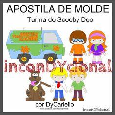 >> Apostila digital de moldes da Turma do ScoobyDoo [conforme imagem], para ser feito em feltro/tecido.  >> Vem com os personagens que estão na imagem! Nesta mesma posição! http://incondycional.iluria.com/pd-44125f-apostila-digital-de-moldes-da-turma-do-scoobydoo.html?ct&p=1&s=1