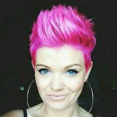 colorful pixie cut -