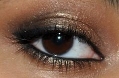 Instead of smoky eyes, think bronze (especially if you have blue eyes)!