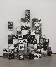michael de courcy. untitled. photoserigraph and cardboard boxes.