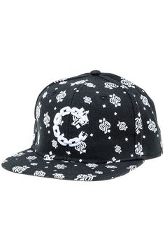 Crooks and Castles Hat The Chain C Paisley Snapback Hat in Black