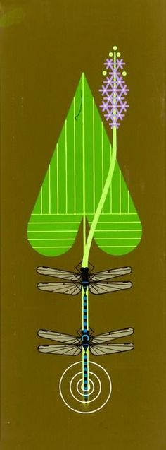 Dragon Flies by Charley Harper