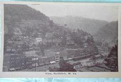 Northfork, WV vintage postcard. Dated 1931.