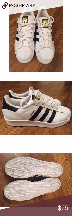 New Authentic Adidas Original Superstars New Authentic Adidas Original Superstars. Women's Size 7 1/2. Available on Ⓜ️ Adidas Shoes Athletic Shoes