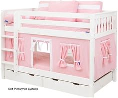 Maxtrix Kids Bunk Bed Tents and Curtains | 3220-023 by Maxtrix Furniture | Maxtrix Childrens Furniture